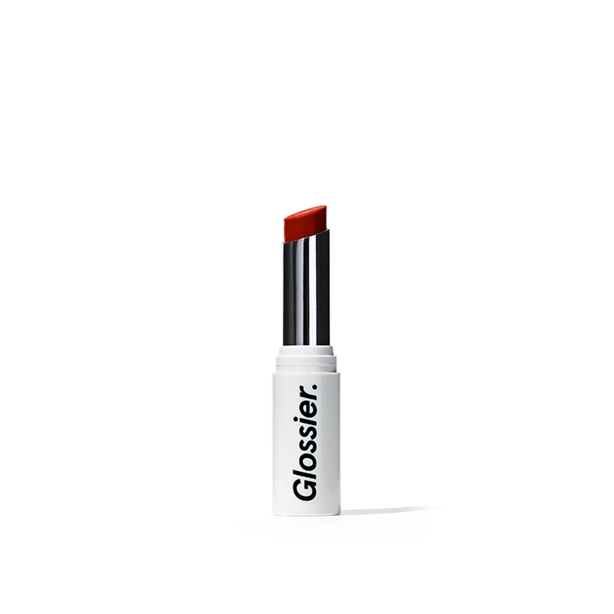 Glossier Generation G Lipstick in Jam, a deep berry magenta, 0.07 oz, enhancing sheer matte lipstick that adapts to you