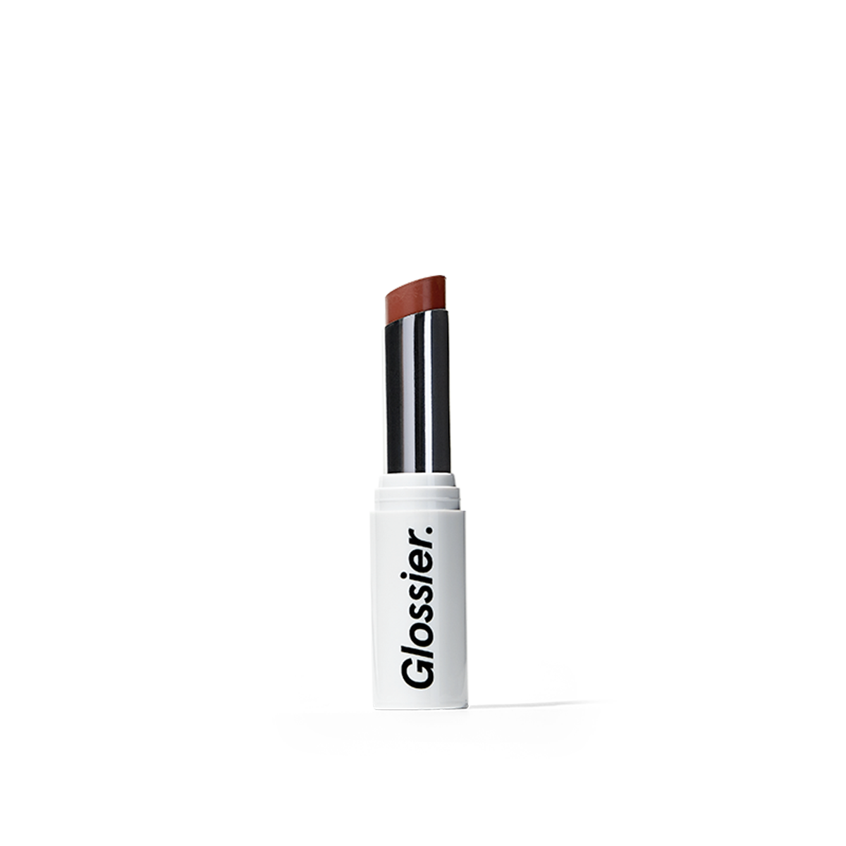 Glossier Generation G Lipstick in Crush, a raspberry pink, 0.07 oz, enhancing sheer matte lipstick that adapts to you