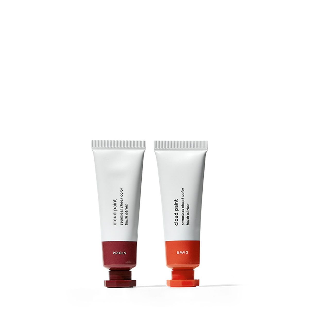 Glossier Cloud Paint Duo, Choose 2 shades of our buildable gel-cream blush, Apply to cheeks for a healthy, flushed glow